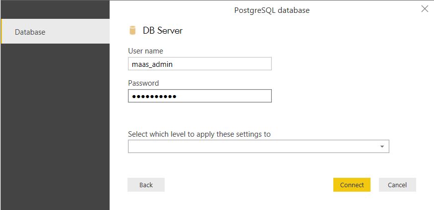 Generate report based on PostgreSQL views