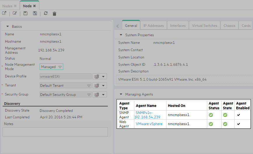 Discover and monitor VMware hypervisor-based virtual networks