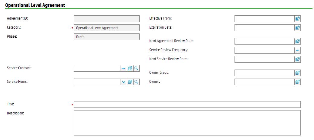 Service Level Management Forms
