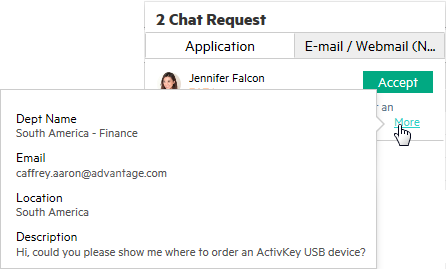 Customize the chat request preview information