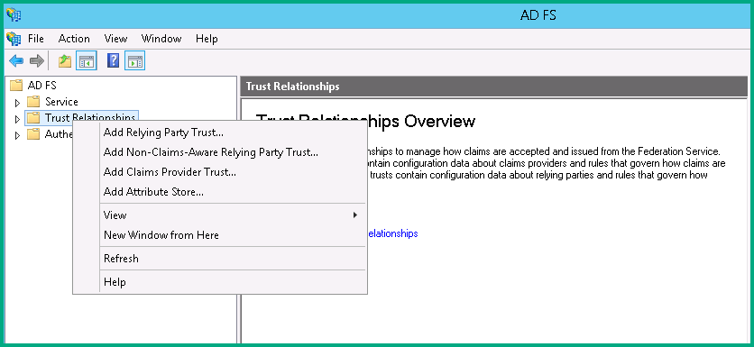 task 13 create a trust relationship with adfs