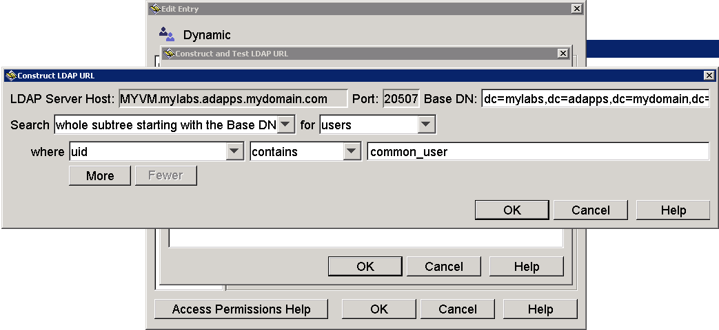 Example: How to Configure Dynamic LDAP Groups